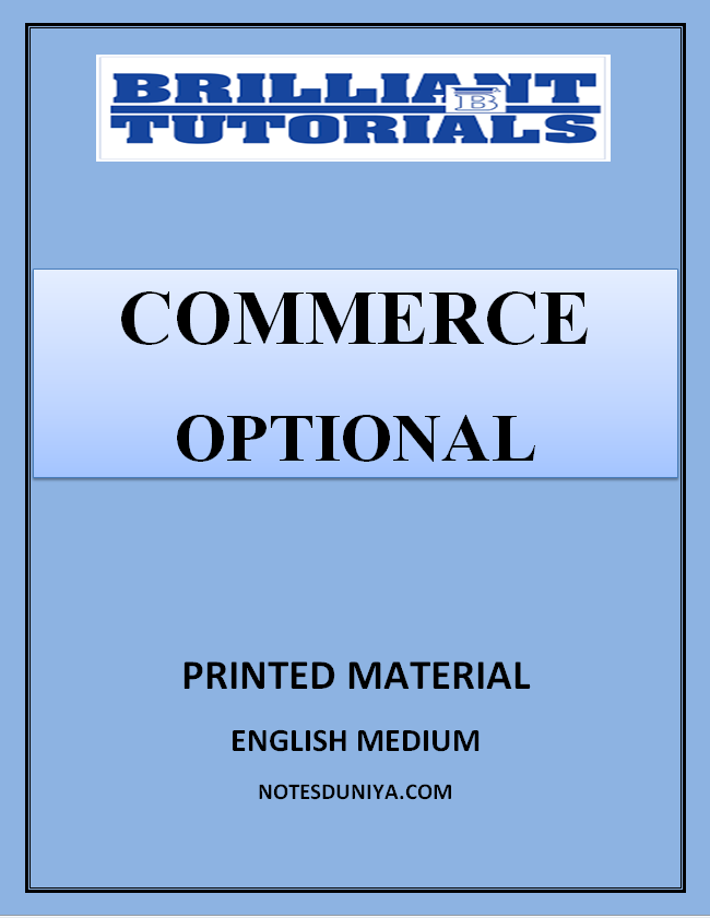 COMMERCE OPTIONAL PRINTED NOTES BRILLIANT COACHING