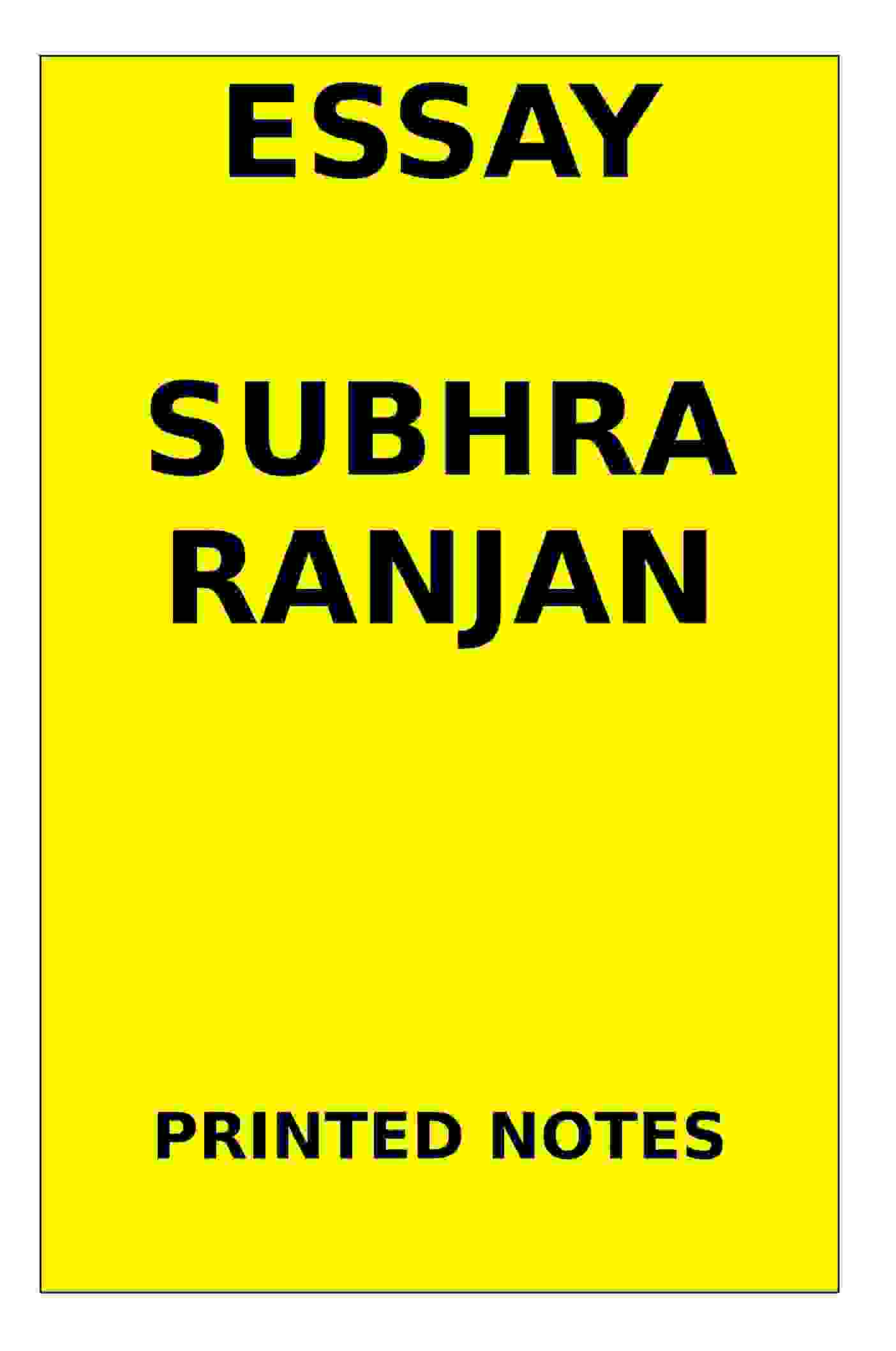 Shubra Ranjan Printed essay english medium