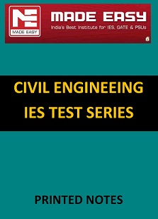 CIVIL ENGINEERING IES MADE EASY TEST SERIES