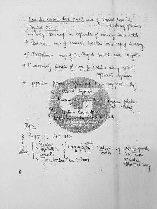 guidance-ias-himanshu-sir-geography-optional-class-notes