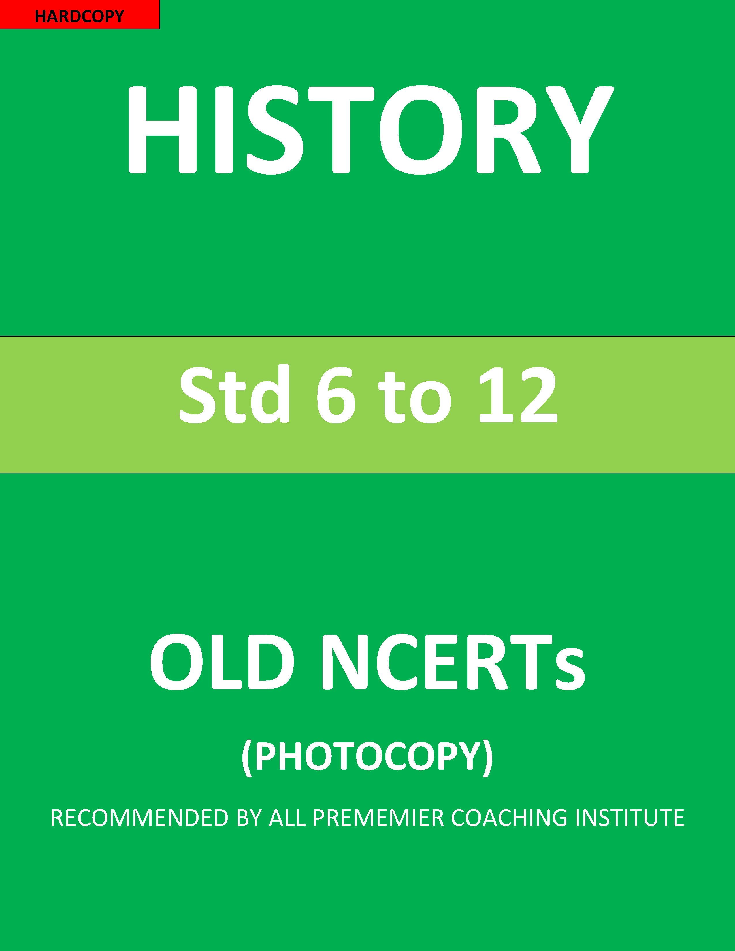 Old NCERT 6th to 12th History Printed